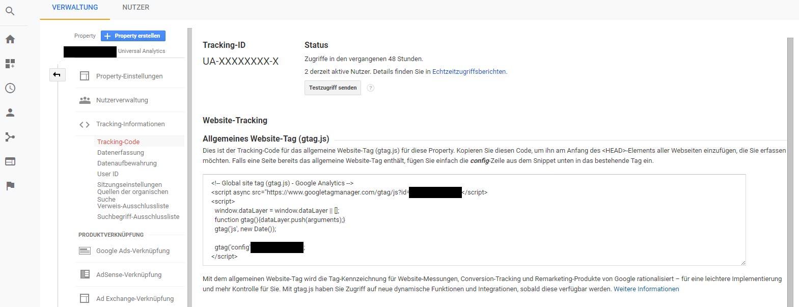 google-analytics-einrichten-tracking-code